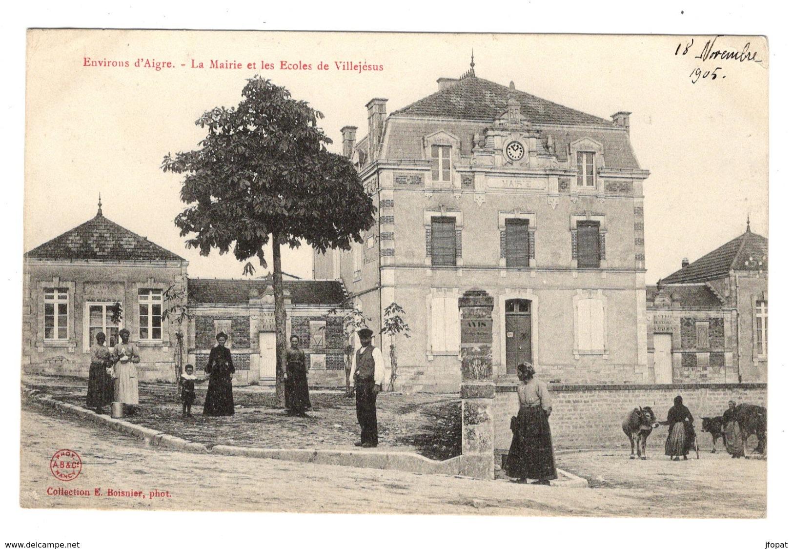 Mairie école Villejesus Charente près Angoulème 1905.jpg