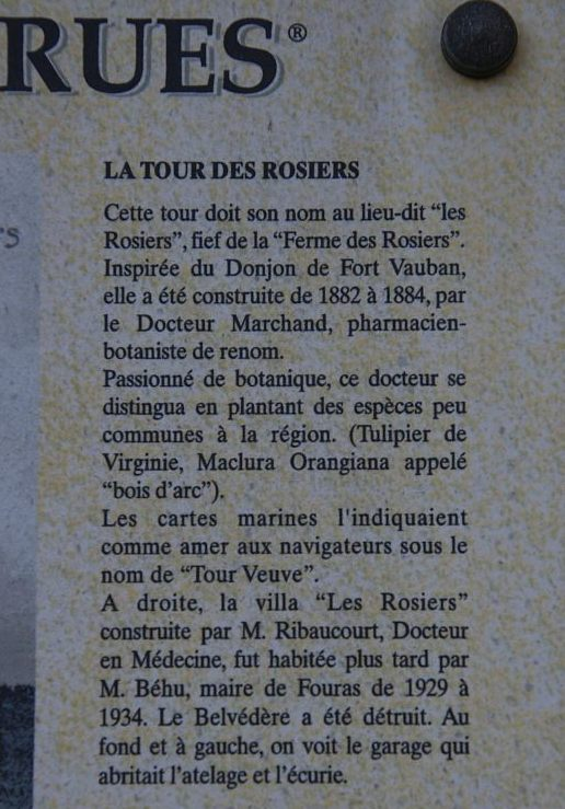 Fouras 8 Tour des Rosiers explications 1er plan.jpg