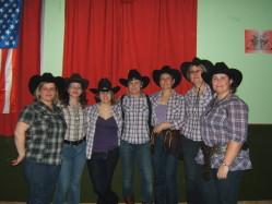 La 1ère des Seven Country Girls à Villebernier