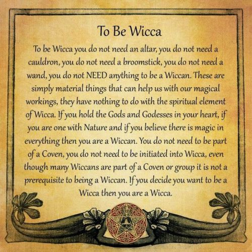 To be Wicca