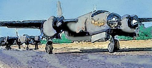Un mystérieux B 26 à Porquerolles ...