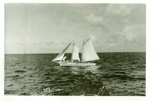 U-161 16.06.1942 , Voilier Dominique UBA