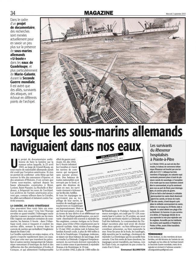 Naufrages France -Antilles