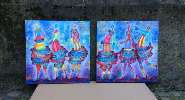 """""""Éclatantes"""" 60x60 cm  400€ Le tableau"""