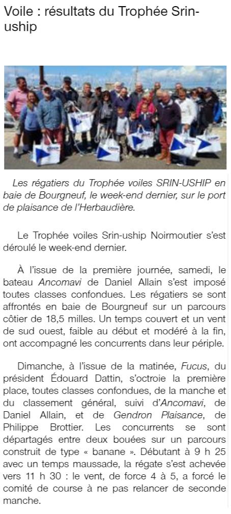 Ouest France du 15 mai 2018