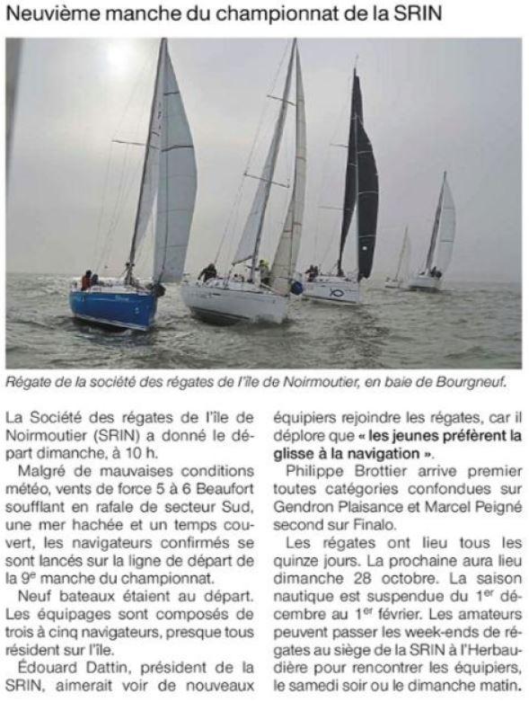 Ouest France 17 octobre 2018