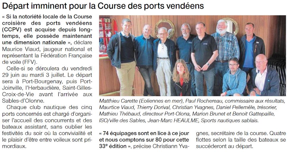 Ouest France du 27/06/2018