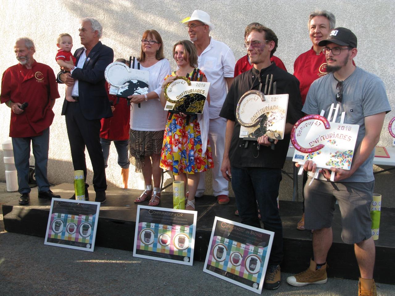 Les lauréats des CONFITURIADES de Beaupuy 2018.jpeg