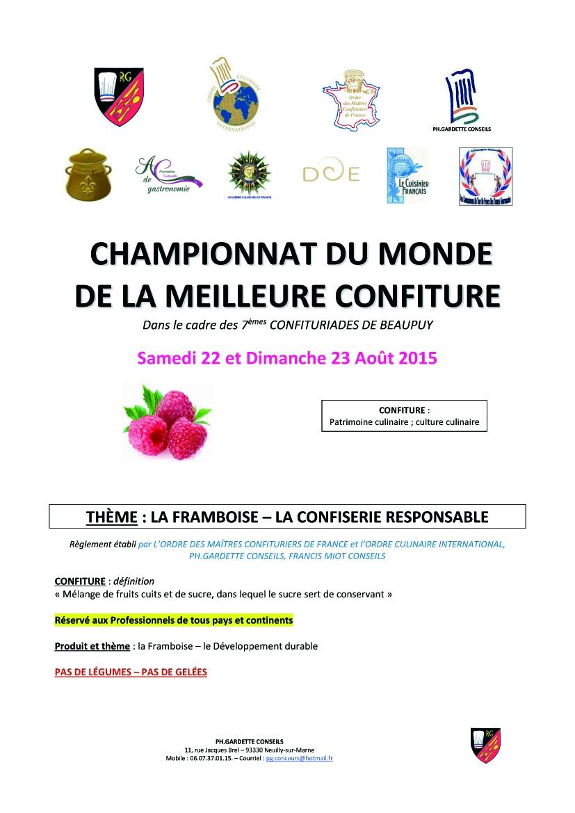 R glement du championnat du monde de confiture 2015 for Championnat du monde de boules carrees