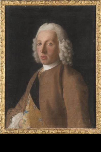 portrait de Jean II Maritz  vers  1746 1748par le pastéliste suisse  Jean Etienne Liotard