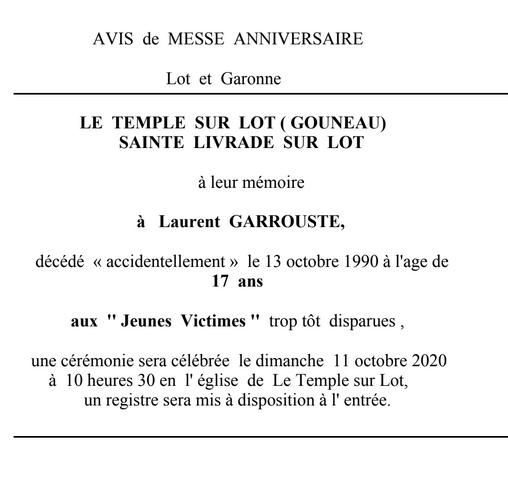 avis messe L Garouste