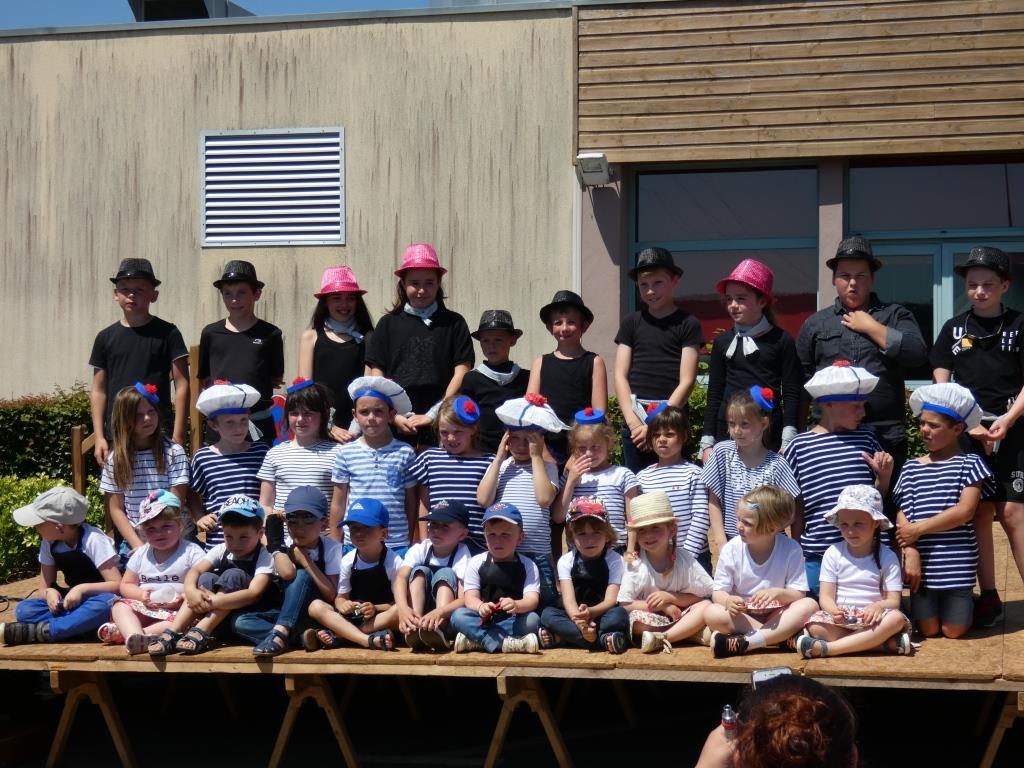 Photo de tous les élèves de l'école, de la petite section au CM2 !