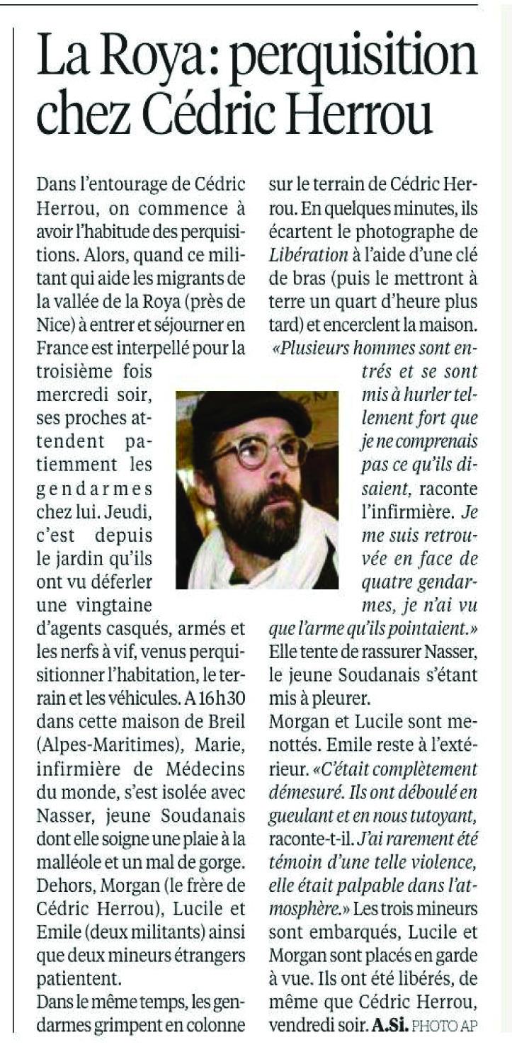 Libé 20012017 Perquise Herrou.jpg