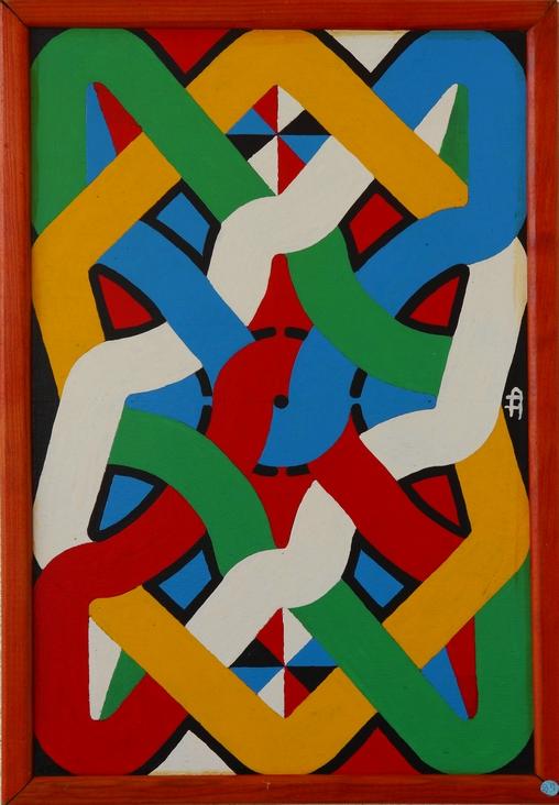 Go da yu kon yu sa membre sa yu si Va reviens et souviens toi de ce que tu as vu 62x43 Antoine Lamoraille 2001.JPG