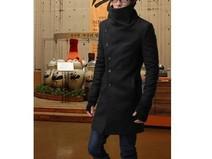 Manteau homme Col haut - laine