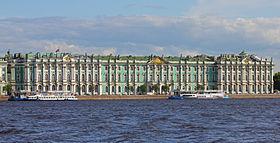 le palais d'hiver, vu depuis la Néva
