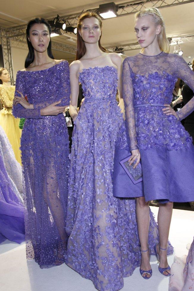 Les robes lavandes du défilé Elie Saab haute couture printemps été 2014