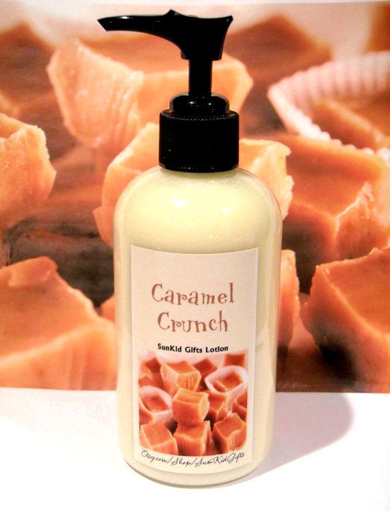 Caramel Crunch 8 oz lotion. Ingrédients organiques