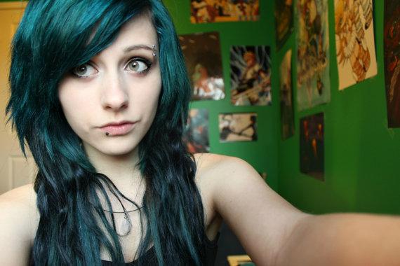 JEU - Dark Forest Green Chalk cheveux - Pastels Farinage - temporaire Couleur des cheveux - Salon Grade - 1 gros bâton