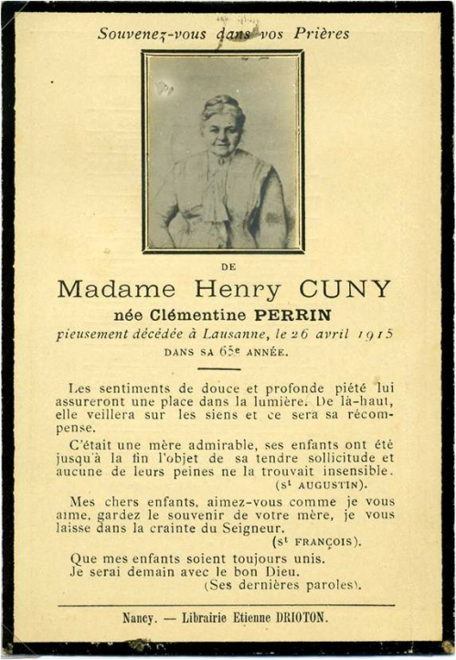 1915 Image mortuaire Clementine Cuny DEHOLLAIN.jpg