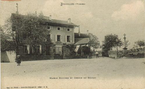 Docelles Maison Boucher et Chemin du Boulay A 08-09-1910.jpg