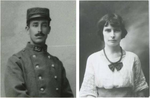 Henri Fauconnier 1914 et Madeleine Meslier.jpg