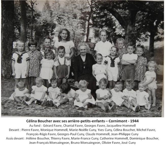 1944 Celina Boucher et ses arriere-petits-enfants + legende.jpg