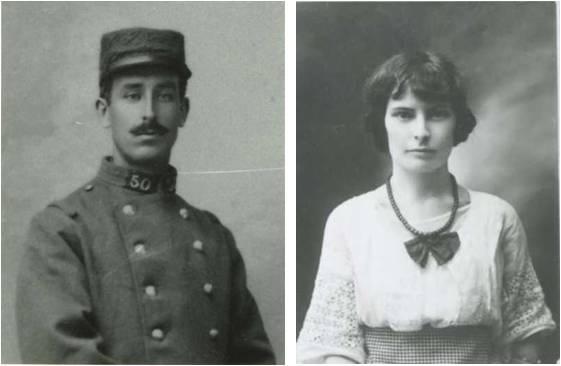 Image 1 Fiances Henri Fauconnier 1914 et Madeleine Meslier.jpg