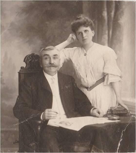 1910 Vautrin Alexis et Anna Coll Michel Segond.jpg