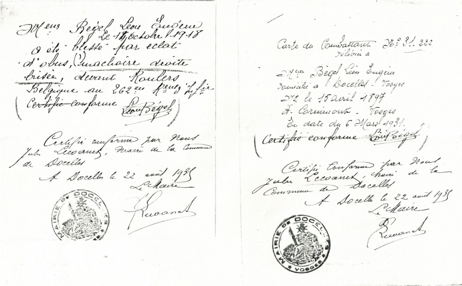 Docelles Image36 Carte combattant Léon Bégel.jpg