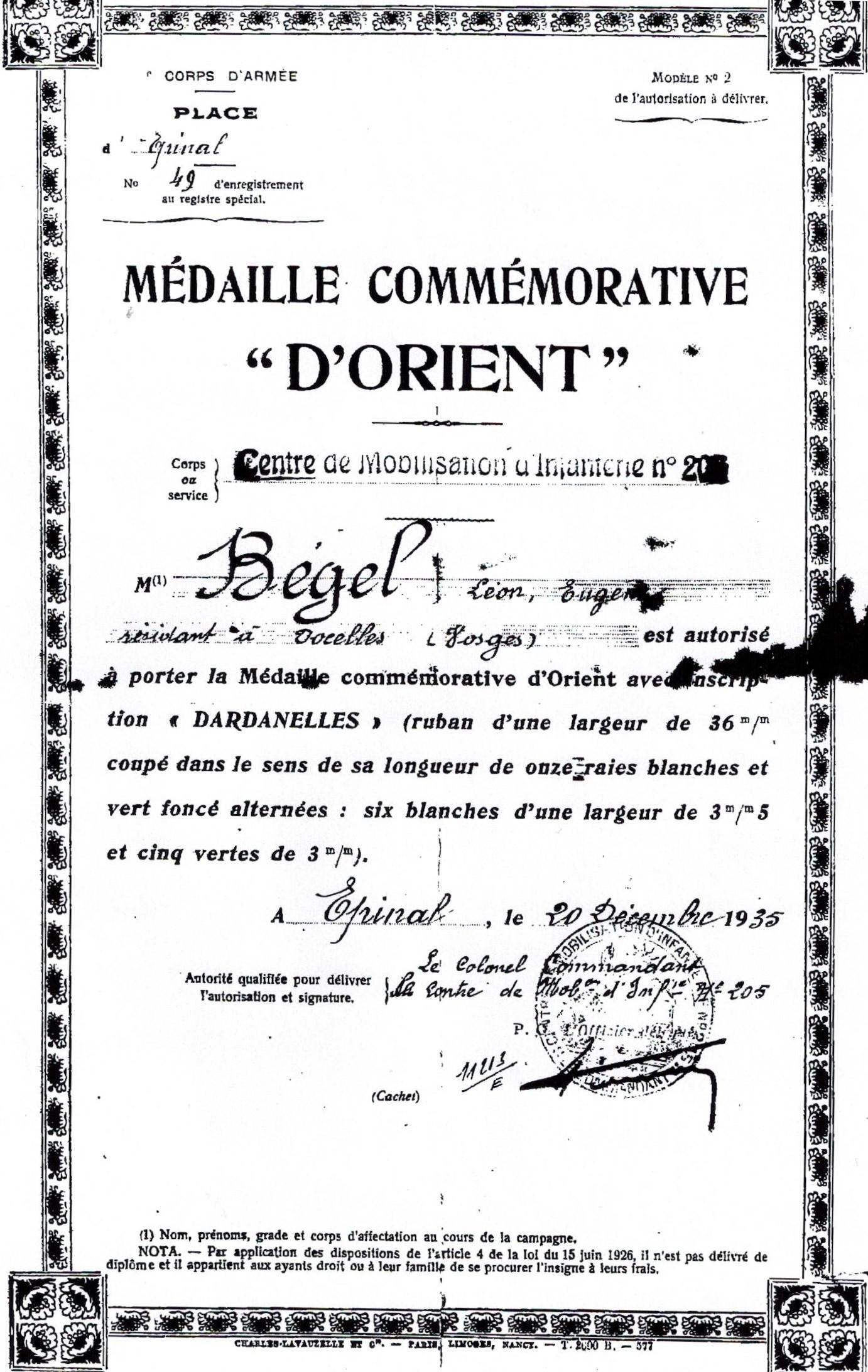 Docelles Image37 Léon Bégel Médaille Orient.jpg