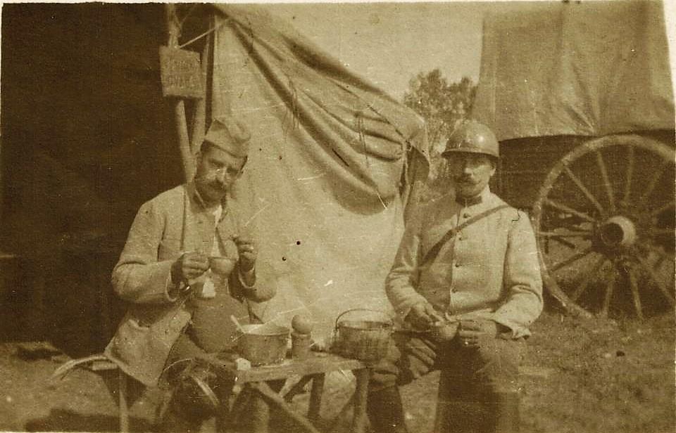 Georges Fontaine et un camarade à Verdun CADRE.jpg