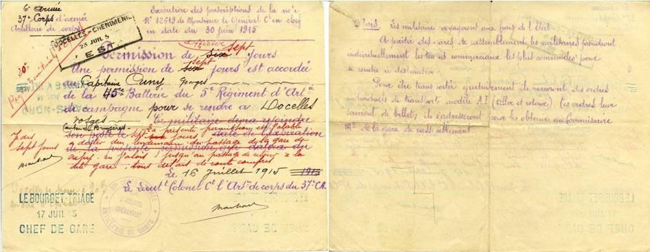 1915 Première permission de GC Juillet 1915.jpg