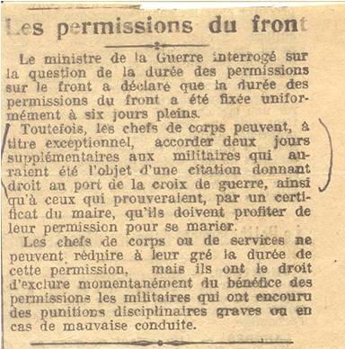 1915 71e semaine Image1 Les permissions du front.jpg