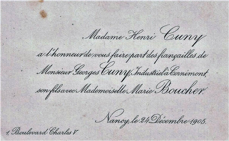 1905-12-24 faire-part fiançailles Georges Cuny et Marie Boucher (V0108).jpg