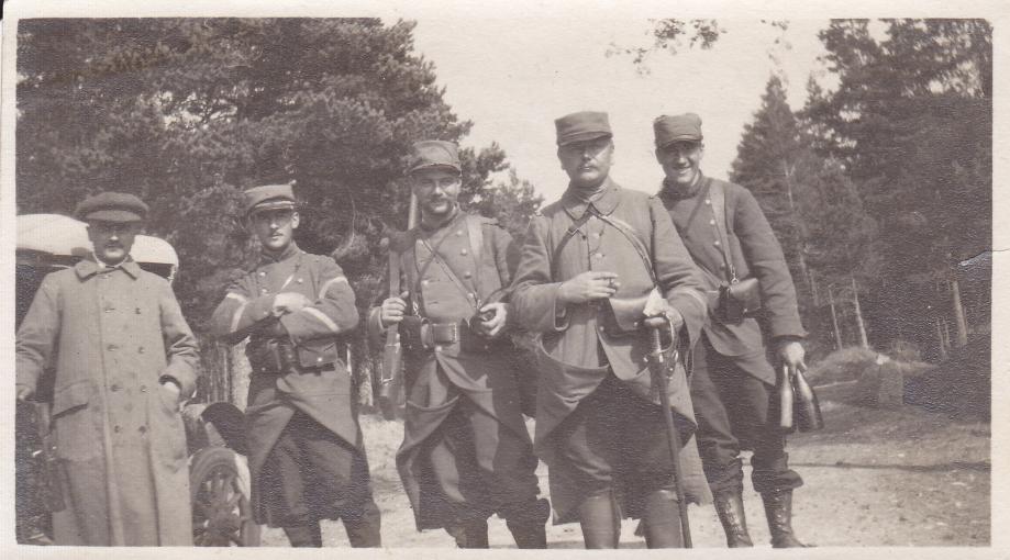 1914 08  François Boucher col du Herrenberg Francois au milieu Paul à sa gauche.jpg