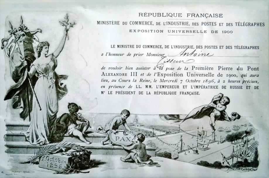 Image 27 1896 pont alexandre 3 invitation.JPG