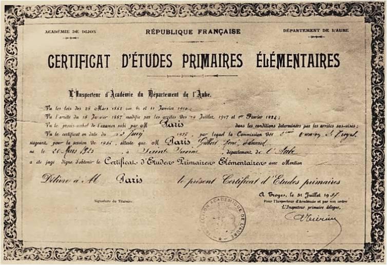 Le certificat d tudes l aube de la 1re guerre mondiale 14 - Certificat d heredite avec porte fort ...