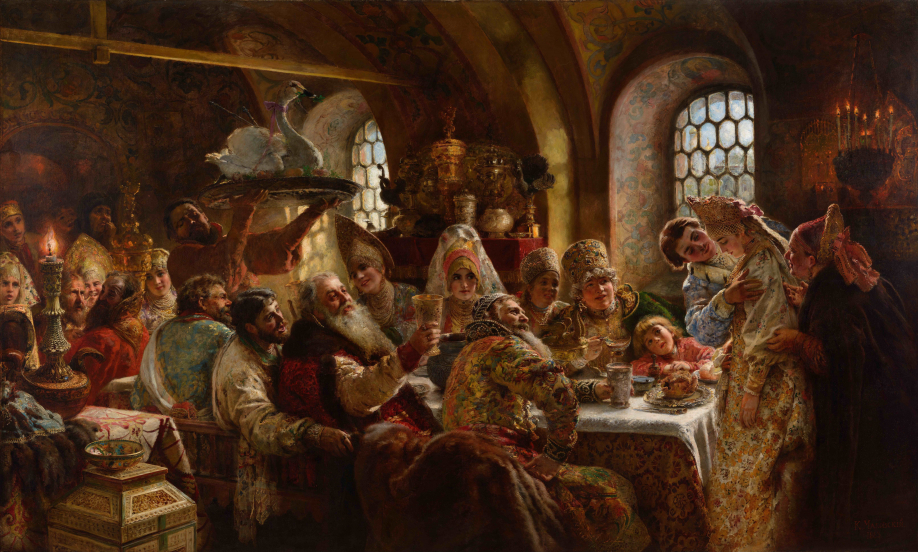 A_Boyar_Wedding_Feast_(Konstantin_Makovsky,_1883)_Google_Cultural_Institute copie