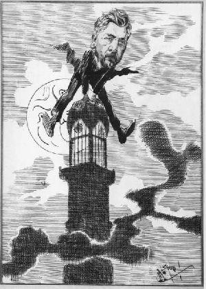 Caricature de Gustave Eiffel par Luque Manuel 1854.jpg