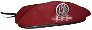 Béret_rouge_du_1er_régiment_de_hussards_parachutistes
