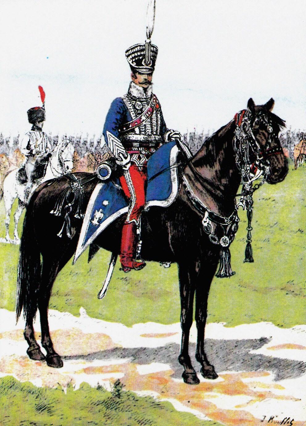 Colonel_du_1er_régiment_de_hussards,_vers_1810