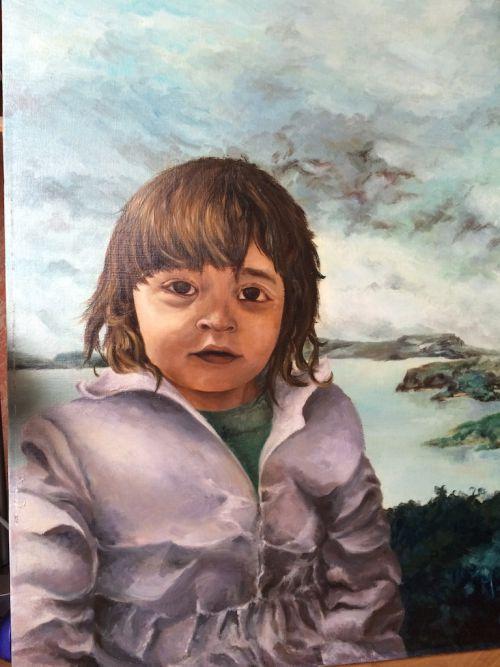 Anne-Laure à 2 ans