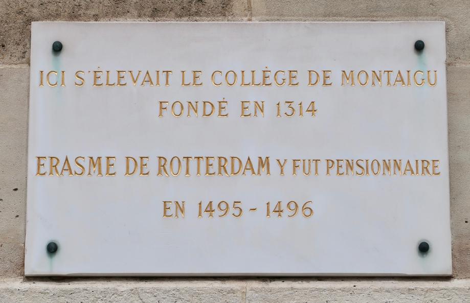 Plaque_collège_de_Montaigu,_place_du_Panthéon,_Paris_5e
