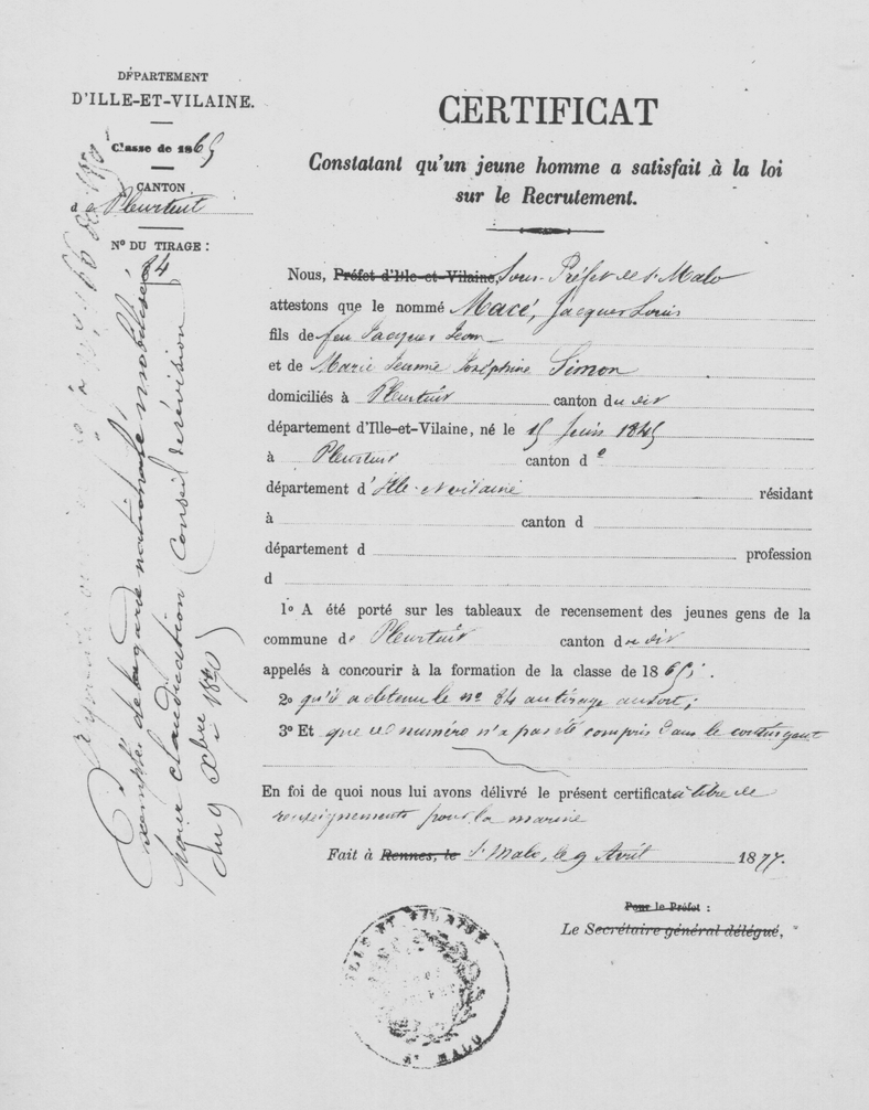 Recrutement_armee_France_certificat_1877
