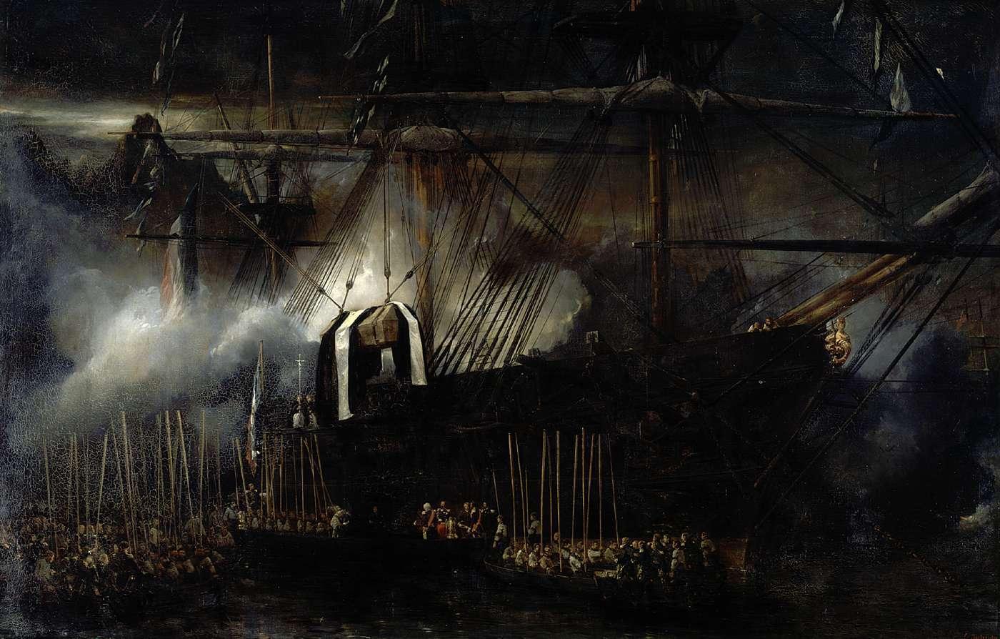 Repatriación_de_las_cenizas_de_Napoleón_a_bordo_de_la_Belle_Poule,_por_Eugène_Isabey