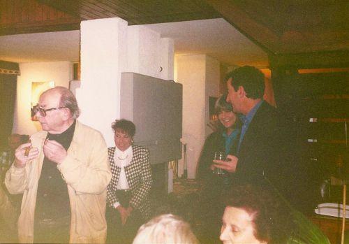 Georges Haldas et son ami Jean-Philippe Rapp, pause cigare après l'émission