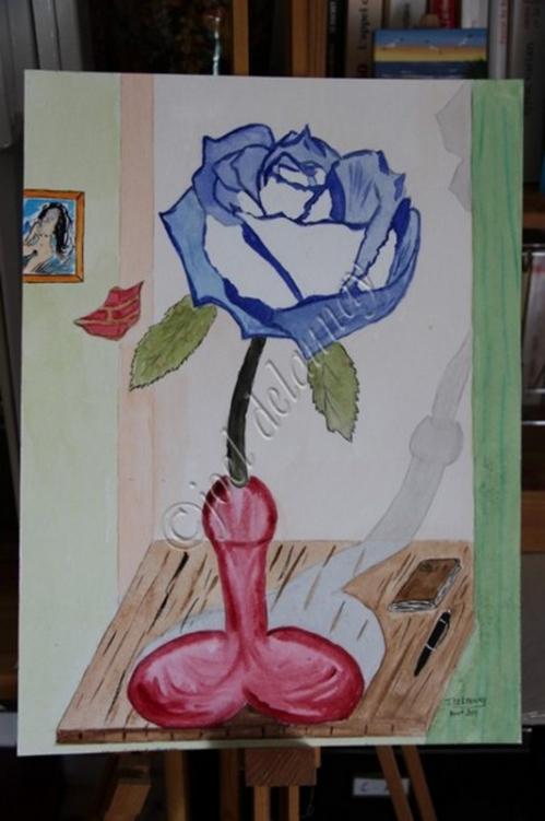 ROSE BLEUE ET SOLIFLORE ROSE.jpg