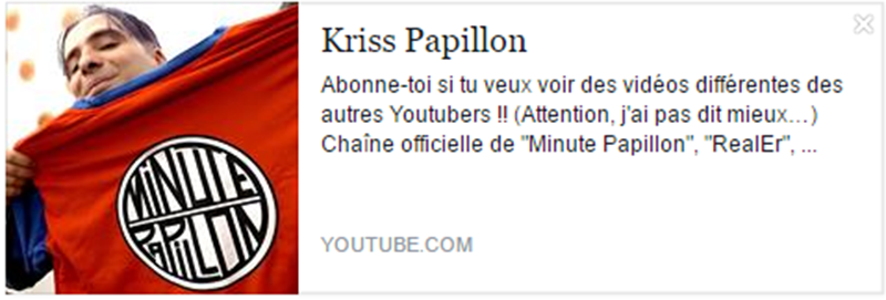 eleutheria.blog4ever.net MinutePapillon meilleur chaine youtube.png