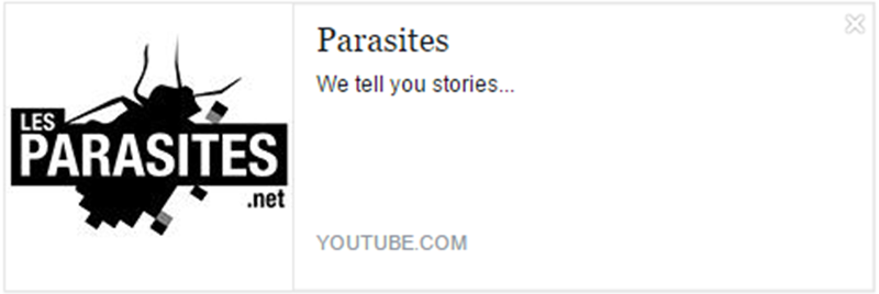 eleutheria.blog4ever.netLes Parasites meilleur chaine youtube.png